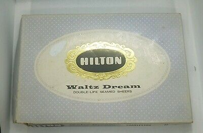Hilton Vintage Stockings Waltz Dream Double Seamed Sheers Charleston