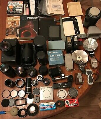 Huge Job Lot Vintage Camera Photography Lenses & Accessories, House Clearance