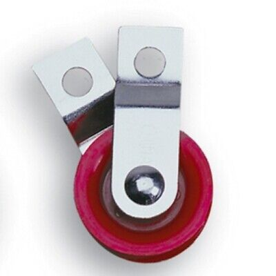 "10  1-3/4"" Red Fiberglass Reinforced Nylon Pulleys with Split Bracket"