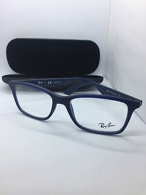 53a62a1acee NEW Authentic Ray-Ban RB 7047 5450 Matte Transparent Blue Eyeglass Frames  54-17
