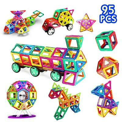Magnetic Blocks, Magnetic Building Tiles Kit for Kids/ Girls/ Boys- Creative