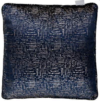 Navy Blue Velvet Luxury Sofa Fabric Cushion X 2 Set Pillow Case Large Size Uk
