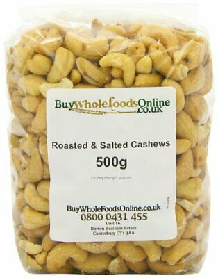 Buy Whole Foods Cashew Nuts Whole Roasted and Salted 500 g