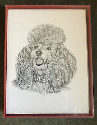 Earl Sherwan Poodle Min. Dutch Portrait Note Cards Envelopes Vintage