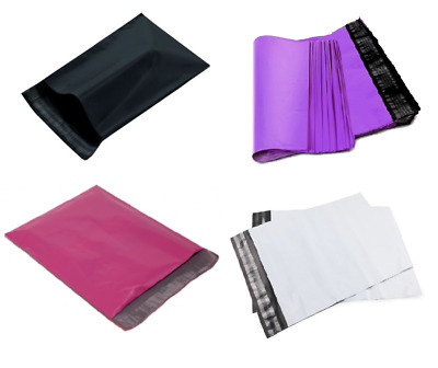 19x24 #8 Large Colored Poly Mailers Shipping Bags Pink - Black - Purple - White