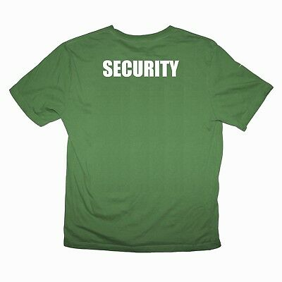 SECURITY T-Shirt Bouncer Body Guard Officer w//Patch//Badge Black or Green 27BM