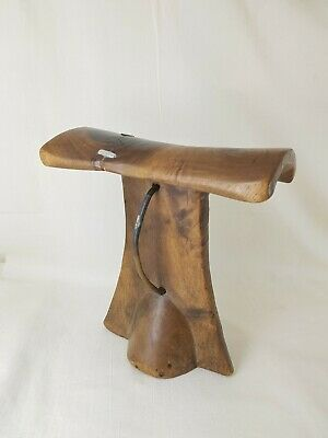 Old African Tribal Carved Wood Head Rest Turkana Kenya