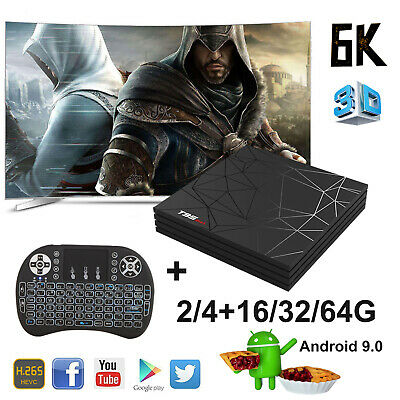 2019 6K 3D Android 9.0 T95 Max 32/64GB Smart TV Box Quad Core WIFI With Keyboard