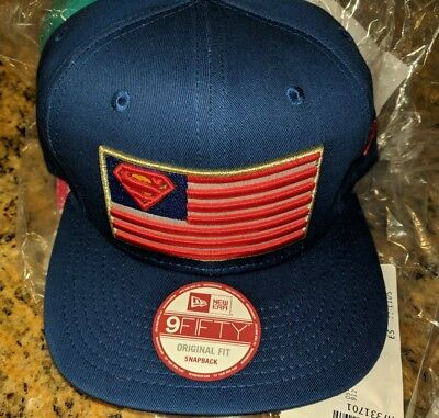 aa0dbbd377a Superman USA Flag Snapback   New Era   9Fifty Adjustable Hat Cap DC Justice