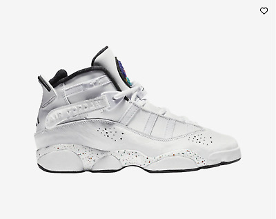 Boys Air Jordan 6 Rings Youth Ship Now Gs 323419-100 Og Vapor Grey Fog
