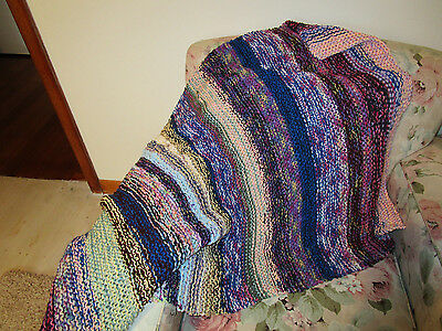Babies/reborn doll  hand knitted blanket/throw fits a babies cot
