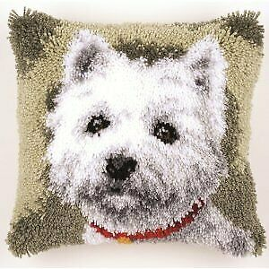 Vervaco Westie Latch Hook Cushion, Multi-Colour