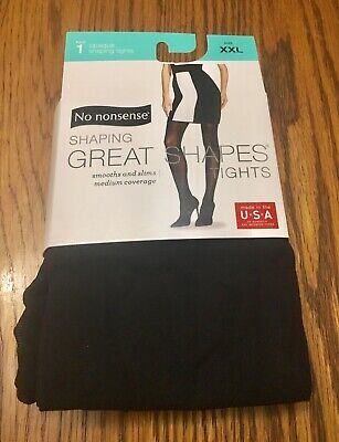 bac96c66760fe No Nonsense Women s Shaping Great Shapes Tights Opaque Smooths   Slims  Size  XXL