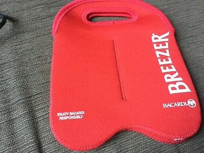 Red Bacardi 4 bottle carry bag NEW never used surplus to need
