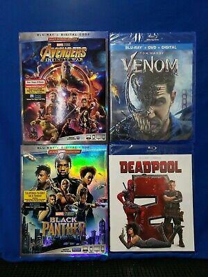 Marvel Blu-Ray Bundle: Venom, Avengers, Black Panther, Deadpool 2