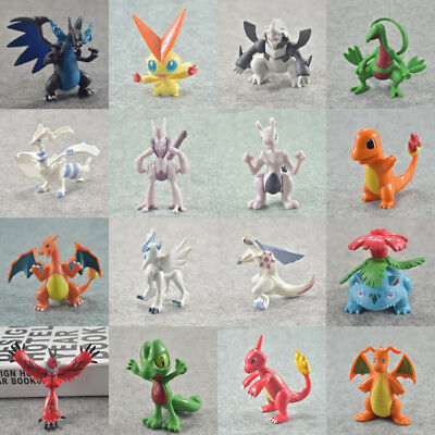 Pokemon Action Figure Movable Toy Xmas Gift Charizard Mewtwo Reshiram 5-8CM
