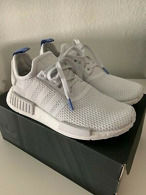 9561f49a8ae4 NWT ADIDAS NMD R1 Women s Shoes Crystal White Real Lilac B37645 ...