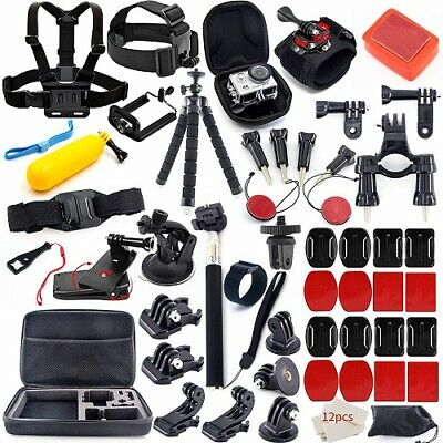 Accessories Kit Essential For GoPro Hero 7/6/5/4/3/2/1 Session Hero Bundle Black