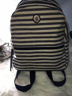 e52d9cb5b6 TOMMY HILFIGER BACKPACK Canvas Striped -  76.00