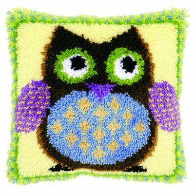 Vervaco 1-Piece Latch Hook Cushion Mr Owl
