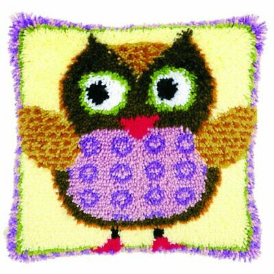 Vervaco 1-Piece Latch Hook Cushion Miss Owl