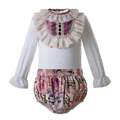 Infant  Outfits Shirt+Shorts Baby Girls Party Pageant Spanish Clothing set