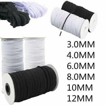 White & Black Knit Elastic Band Woven for Dress Making Trousers Sewing Craft