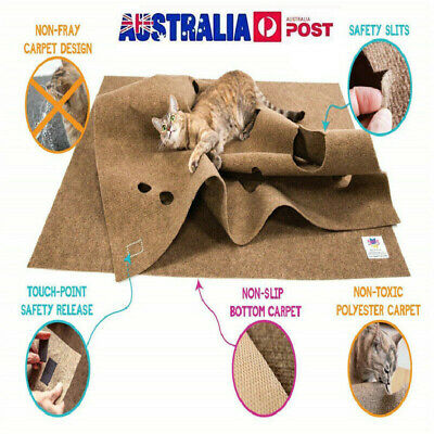 Cat Activity Play Mat,Fun Interactive Tunnels Toy,Scratching Training AU
