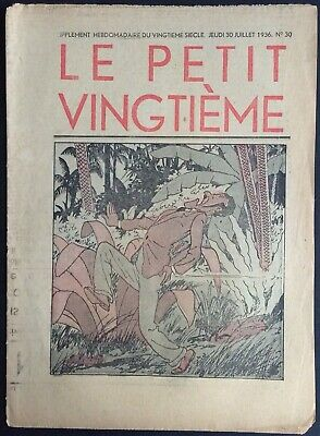 TINTIN THE Petit VingtiÈme n°30 du 30 juillet 1936 Good condition
