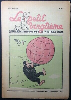TINTIN THE Petit VingtiÈme n°20 du 19 may 1938 Good condition