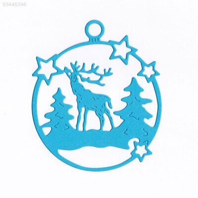 EB2A Durable Cutting Stencil Embossing Card DIY Carbon Steel Christmas Deer