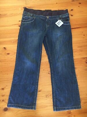 NWT New Look Yes Yes maternity Boyfriend Jeans Size UK 18