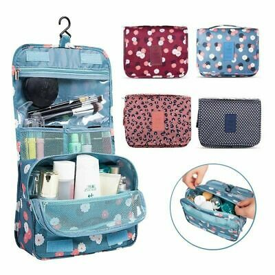 Travel Cosmetic Storage MakeUp Bag Folding Hanging Organizer Pouch Toiletry hs