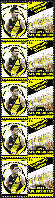 Trent Cotchin Richmond Tigers 2017 Afl Grand Final Mint Stamp Strip
