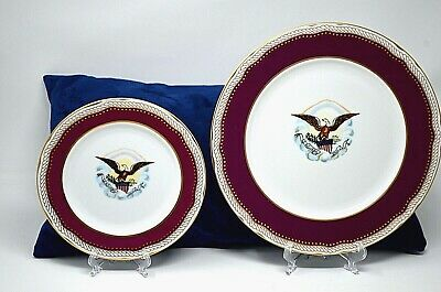 White House Abraham Lincoln China DINNER & SALAD / DESSERT PLATES Eagle Woodmere