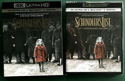 Schindler's List, 4K Ultra HD + Blu-ray +Digital, SEALED, SLIPCOVER, Ohio seller