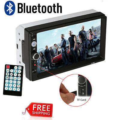 """7"""" 2 Din Touch Screen Car MP5 Player Bluetooth Stereo FM Radio USB/TF AUX In US"""