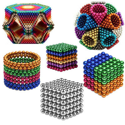 5mm Magic Magnet Magnetic DIY Balls Sphere Neodymium Cube Luxury Beads 216pcs AU
