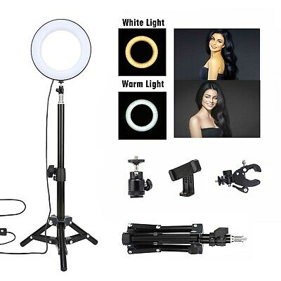 """6"""" Selfie Ring Light with Tripod Stand for Live Stream,Makeup,ZOMEi Led Desktop"""