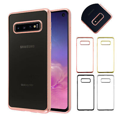 Ultra Slim Plating Clear Soft Silicone TPU Case For Samsung Galaxy S10 Plus S10e