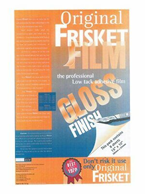 Frisket 380 x 254mm Gloss Low Tack Masking Film Pack of 8 Sheets