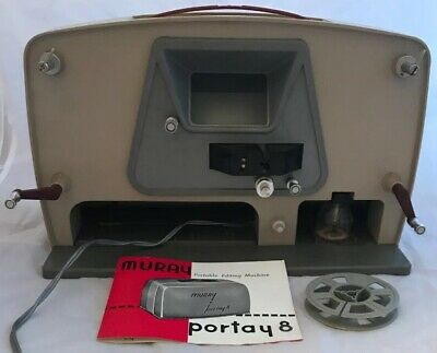 "Vintage Muray ""Portay 8"" Cine Film Movie 8mm Editing Machine Editor, Working"