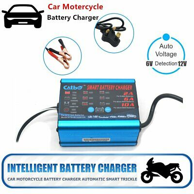 Intelligent Battery Charger Automatic Trickle For Cars Motorcycle Vans Boat Bike