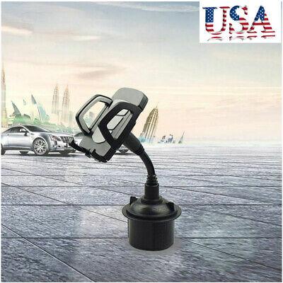 US Universal Car Mount Adjustable Cup Holder Stand Cradle For Cell Phone Mobile