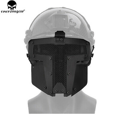 Tactical Airsoft Full Face Protective Mask FAST Helmet Steel Mask Mesh Outdoor