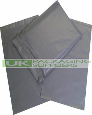 100 Grey Polythene Poly Mailers Bags 165 x 230mm 60 Micron