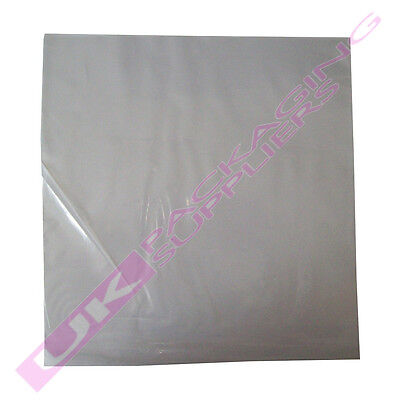 """500 STRONG 12"""" LP CLEAR POLYTHENE RECORD VINYL SLEEVES COVERS 450gauge 325x325"""