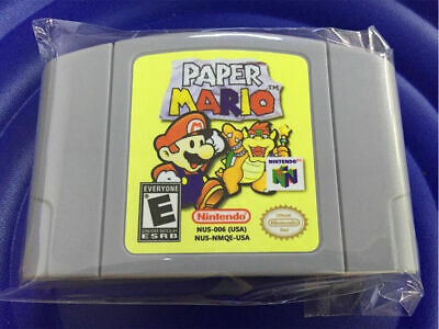 Paper Mario For Nintendo 64 Video Game Cartridge for N64 Console US Version