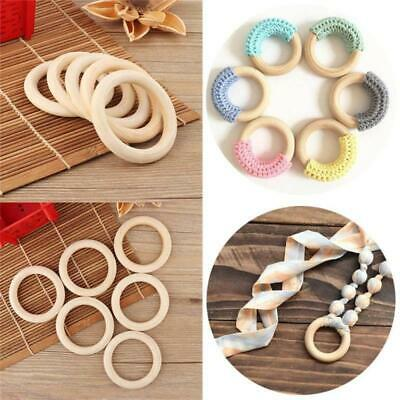 40pcs Round Circle Wooden Rings For Craft Diy Pendant