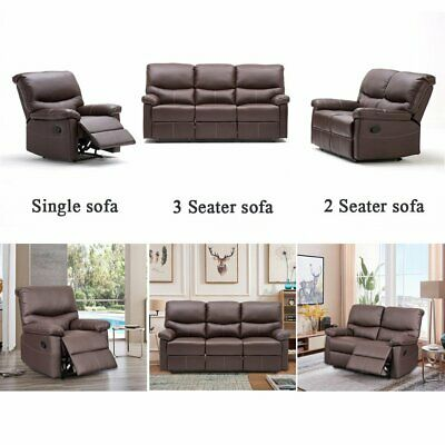 Swell Leather Recliner Sofa 3 2 1 Seater Sofa Sets Suite Machost Co Dining Chair Design Ideas Machostcouk